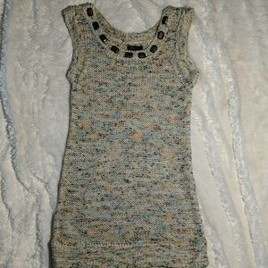 BCBG maxazria crochet stud tank vest tunic dress